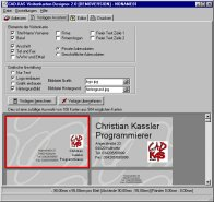 A screenshot of the program Business Card Printery 3.5