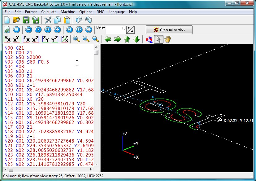 Click to view CNC Backplot Editor 1.0 screenshot