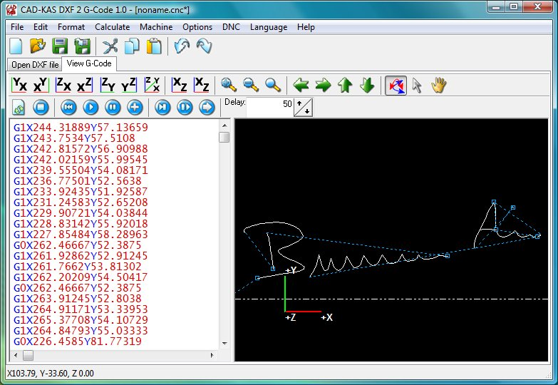Click to view DXF 2 G-Code 1.0 screenshot