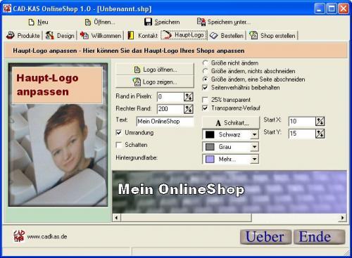 onlineshop erstellen mit der onlineshop software von cad kas. Black Bedroom Furniture Sets. Home Design Ideas
