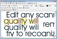 Scanned Text Editor